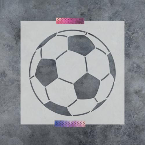 Soccer Ball Stencil - Durable & Reusable Mylar Stencils
