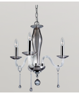 "Eurofase E12392049 ""Rottura"" Mini Chandlier In Chrome/Smoke 3 Light - $40.08"