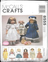 """Vintage McCall's Crafts $8555 Wardrobe for 18"""" Dolls (American Girl) - UNCUT - $10.00"""