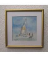 "Original Miniature Watercolor by Ana Sharma, ""Last Summer"",  4 x 4 inches - $200.00"