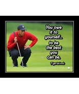 Tiger Woods Golf Quote Poster Motivation Wall Art Golfer Gift Be Best Yo... - $19.99+