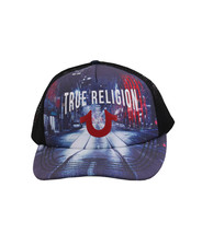 True Religion Men's City Digital Print Logo Cap Sports Snapback Trucker Hat image 2