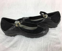 Merrell Plaza MJ Saddle Black Suede Leather Mary Jane Comfort Shoe Size ... - $34.15