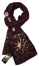 Ed Hardy Wool Blend Purple Scarf - $71.65 CAD
