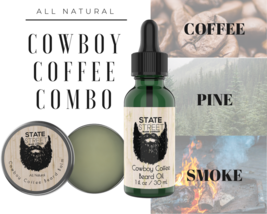 Beard Oil & Beard Balm Combo - All Natural Scent - Made in USA - $23.83