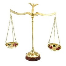 "Deco 79 30651 Brass Scale, 12""W x 12""H - $28.96"