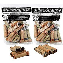 Coin-Tainer Coin Wrappers Assorted Quarter, Dimes, Nickels, Pennies 72 C... - $5.99