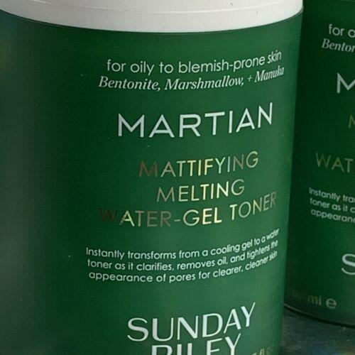 Sunday Riley Martian Mattifying Melting Water Gel Toner 1.7oz / 50ml NWOB