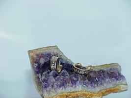 """14K .20ct  Diamond Hoop  Earrings Yellow Gold Vintage 1/2"""" - $138.59"""