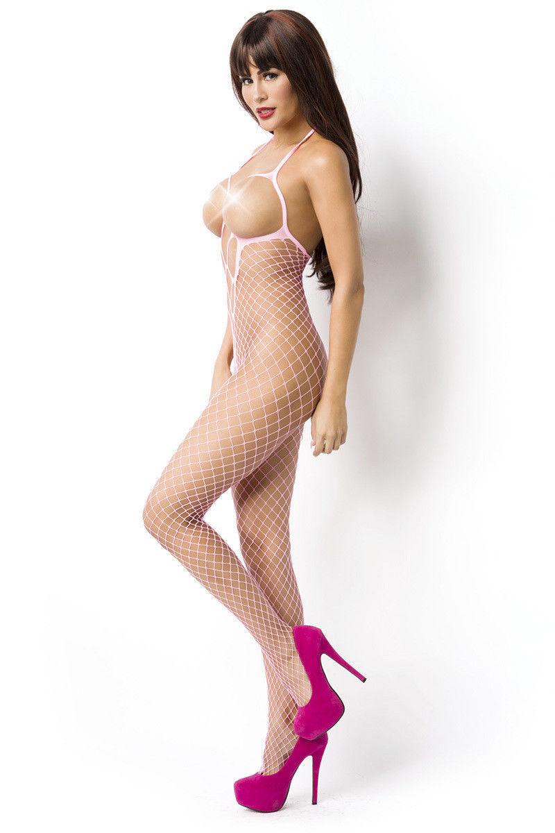 Calza per il corpo lingerie sexy body INTERO COLLANT BODY CALZE Fucsia 14852