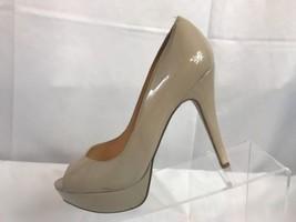 GUESS Womens WGabyGale Patent Platform Stiletto Open Toe Nude Pump Size 9M - $23.75