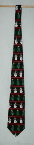 Save The Children Collection Christmas Cheer Necktie Snowman Tree