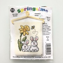 """Springtime #4523 Bunnies Stitch and Hand 3"""" x 2.5"""" New In Bag - $14.99"""