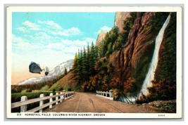 Vintage Mid Century Postcard Horsetail Falls Oregon UNPOSTED - $8.88