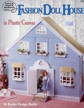 Fashion Doll House for Barbie Plastic Canvas Pattern Book RARE - $67.47