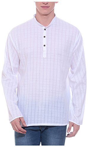 Primary image for Tag 7 Men's Cotton Kurta 44 White