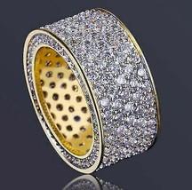 14K Yellow Gold Over 3 Ct Round Cut VVS1 Diamond Men's Fashion Wedding B... - $148.49