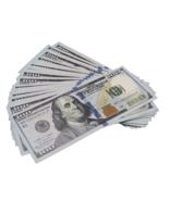 50x $100 Full Print Bills Play Poker Game Joke Prank Fun Music Video Fake  - $9.99