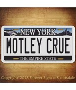 Motley Crue Heavy Metal Band New York Aluminum Vanity License Plate - $12.82