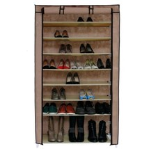 NEW 45 Pair Dustproof Cover Closet Shoe Organizer Storage Rack Boots 10 ... - $59.30