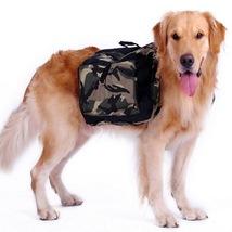 Outdoor large dog bag carrier Backpack Saddle Bags Camouflage big dog tr... - $39.99