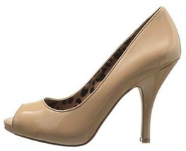 Womens Shoes Jessica Simpson GINGER Peeptoe Pumps Slip On Nude Patent US 10 - $44.99