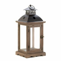 """8 Monticello Weathered Finish Wood Frame Candle Lanterns 20"""" High w/ Handle - $339.95"""