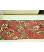 """Coral Tropical Floral Valance Professionally Made 83 5/8"""" x 16 3/4""""  Cor... - $13.99"""