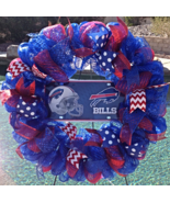 Nfl Buffalo Bills Deco Mesh Wreath - Bills - Bills Wreath - Bills Decor ... - $68.00