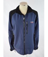 PEAK PERFORMANCE Blue Black Micro Fiber Zip Hiking Trail Camp Jacket Coa... - $18.80