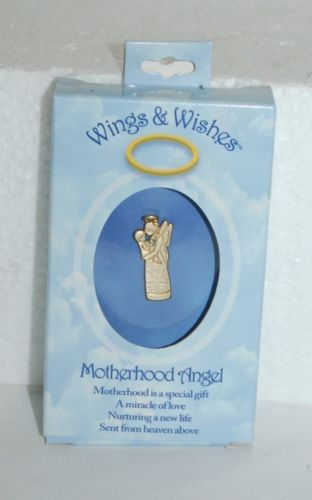 DM Merchandising Wings Wishes Motherhood Diamond Colored Stone Holding Baby