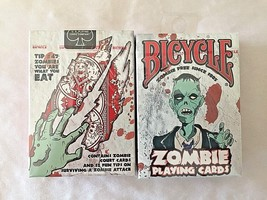 2 Packs of 52 Bicycle Zombie Playing Cards NEW Sealed Pack Tips Survive ... - $4.94