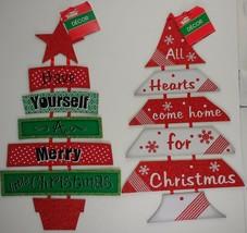 "Christmas Tree Holiday Tidings Wall Danglers 17' x 10"" Select: Tidings - $3.99"