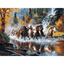 """Horse Animal 16X20"""" Paint By Number Kit DIY Acrylic Painting on Canvas Frameless - $8.99"""