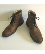 Florsheim Mens Fenway Cognac Brown Leather Ankle Boots Size 8.5 D - $43.56