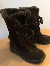 """AEROSOLES """"Squishing Trip"""" Brown,Mid-Calf Boots with Faux Fur Lining,Siz... - $19.00"""