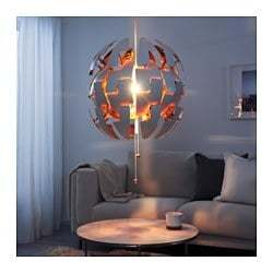 "IKEA PS 2014 20"" Pendant Lamp, White, Copper color, 003.049.16 - NIB & FREE SHIP"