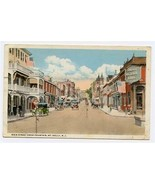 Main Street Fountain Mount Holly New Jersey Postcard 1918 Union National... - $21.78