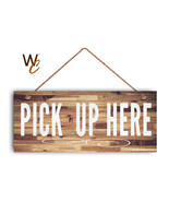 "Pick Up Here Sign, White Text, Restaurant Sign, Rustic Decor, 6"" x 14"" Sign - $398,04 MXN"
