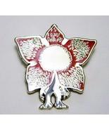 Stranger Things Demogorgon Figure Die-Cut Metal Enamel Pin NEW UNUSED - $7.84