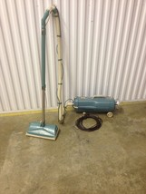 Blue Turquoise Electrolux Model L Vintage Cannister Vaccuum & Power Attachment - $93.50