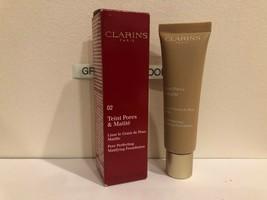 Clarins Pore Perfecting Matifying Foundation #02 Nude Beige 1.0 oz NIB - $14.84