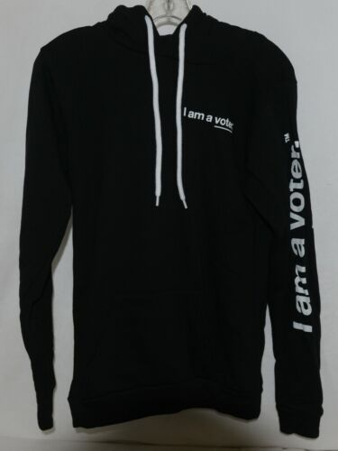 Royal Apparel  I Am A Voter Hoodie Color Black Size Small