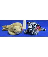 Ty Beanie Babies Plush Original Stuffed Animal Ziggy 1995 Roary 1996 - $12.22