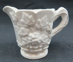 "Vintage Ceramic Creamer White Grape Clusters 3"" tall - $20.00"