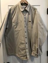 Mens Carhartt Canvas SNAP Button Flannel Lined Shirt Jacket size 2XL Tall - $55.99