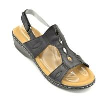 Pierre Dumas Womens Aleisha-35 TStrap Sandal US Size 10M Hook & Loop Black New - $19.30