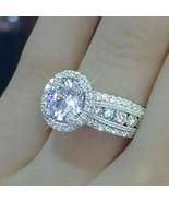 bridal sapphire wedding ring 925 sterling silver - $30.00