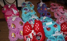 New DISNEY TINKERBELL & LITTLE MERMAID SLIPPERS YOUTH BLUE 9-10, 11-12 - $9.89+