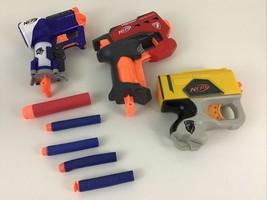 Nerf Guns N-Strike 3pc Lot Triad Ex-3 Mega Big Shock Stealth Blaster Toy Hasbro - $20.45
